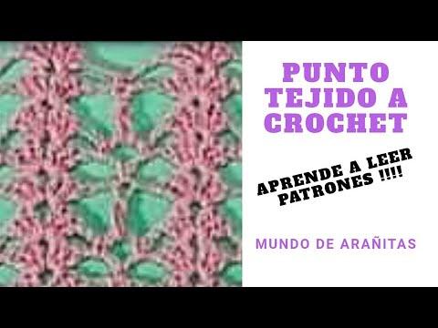 Punto a crochet 6 Aprende a leer patrones!!! 😍