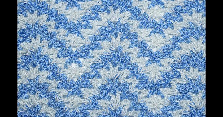 Punto a crochet  zig zag en V   facil #crochet #ganchillo