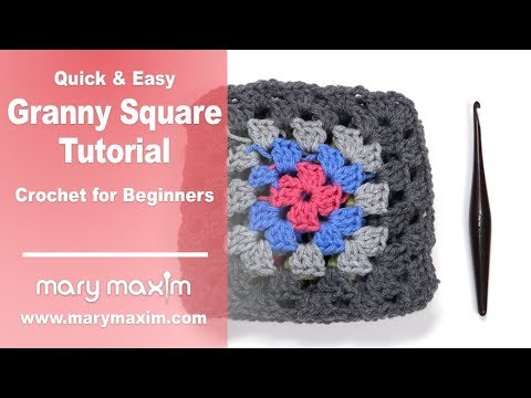 Quick & Easy Granny Square Tutorial | Crochet for Beginners | Part 1