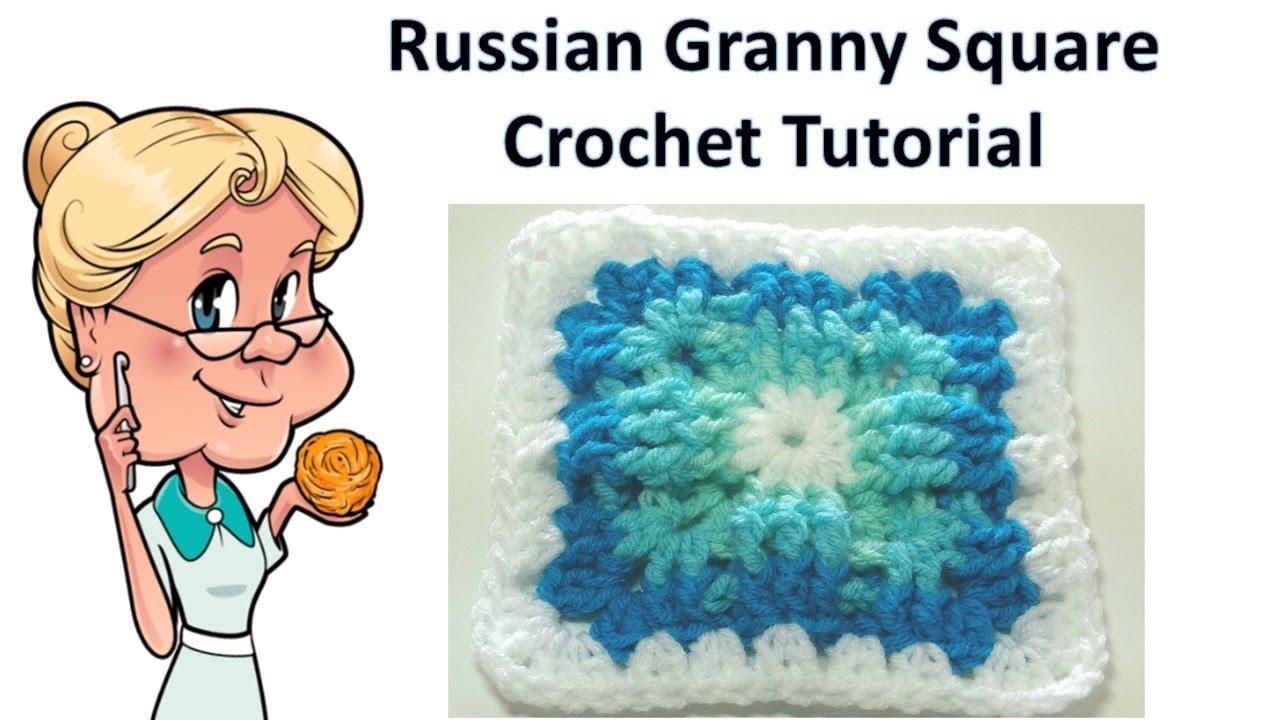 Russian Granny Square Crochet Tutorial