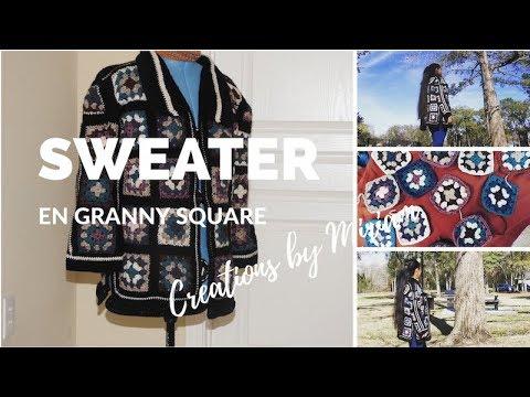 SWEATER, Hecho en  Cuadritos Granny Square