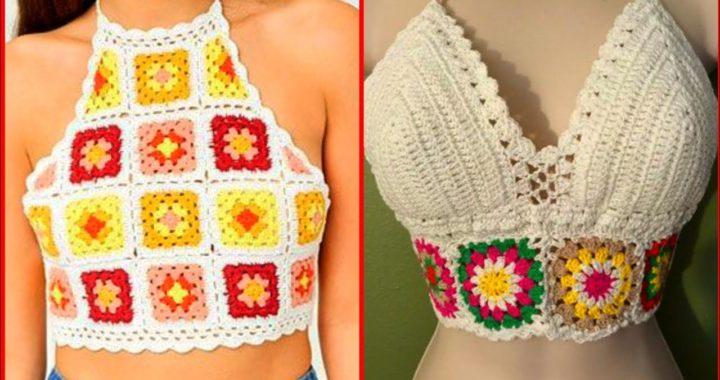 Short crochet top ideas 2021//Hand made crochet blouse stunning pattern design ideas 2021