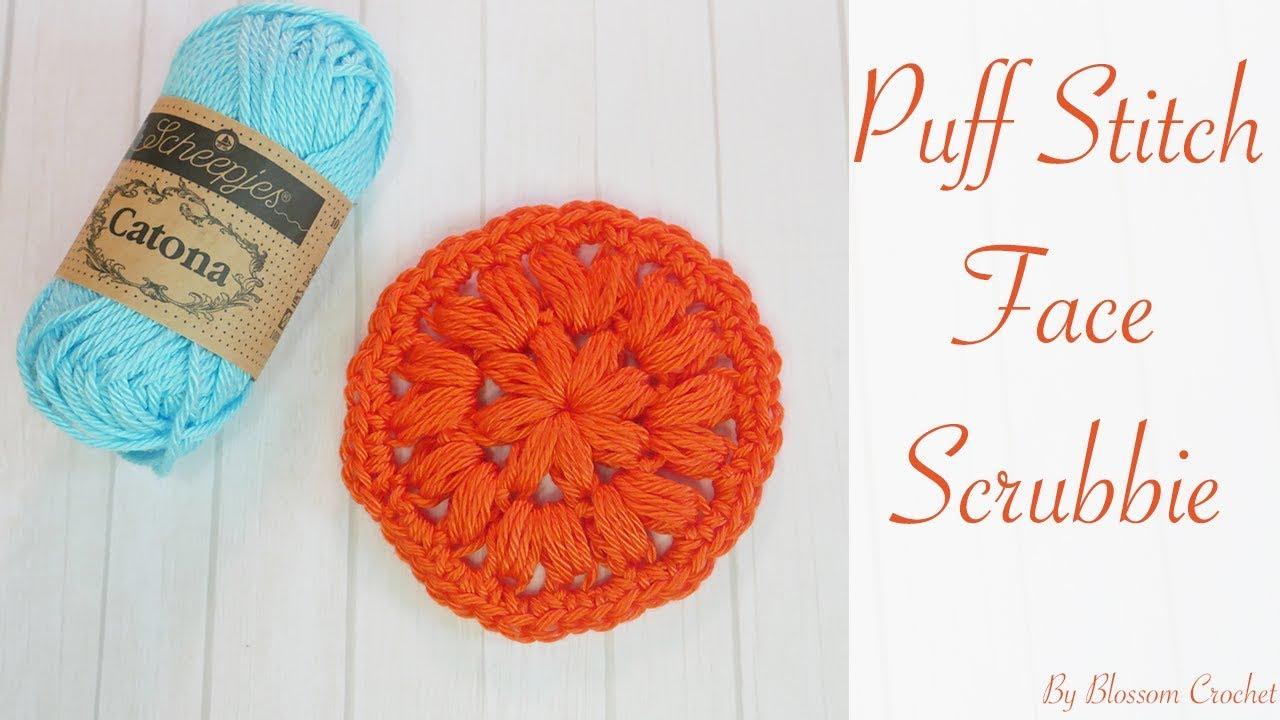 Simple Crochet: Puff Stitch Face Scrubbies (centre for granny square)