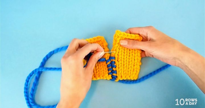 Simple Way to Join Knitted Panels and Squares - Perfect for Blankets and Mending
