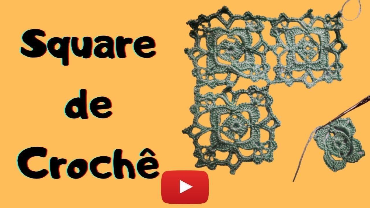 Square de Crochê  Fácil e Rápido!
