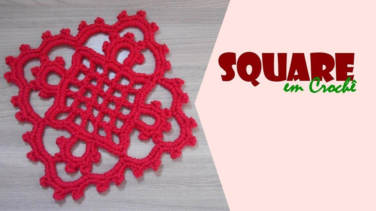 Square de Crochê nº 04 por Carine Strieder