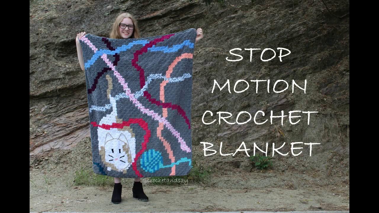 Stop Motion Crochet Blanket