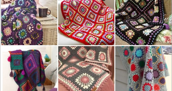 Stylish And Attractive Crochet Granny Square Pattern Blanket Designs