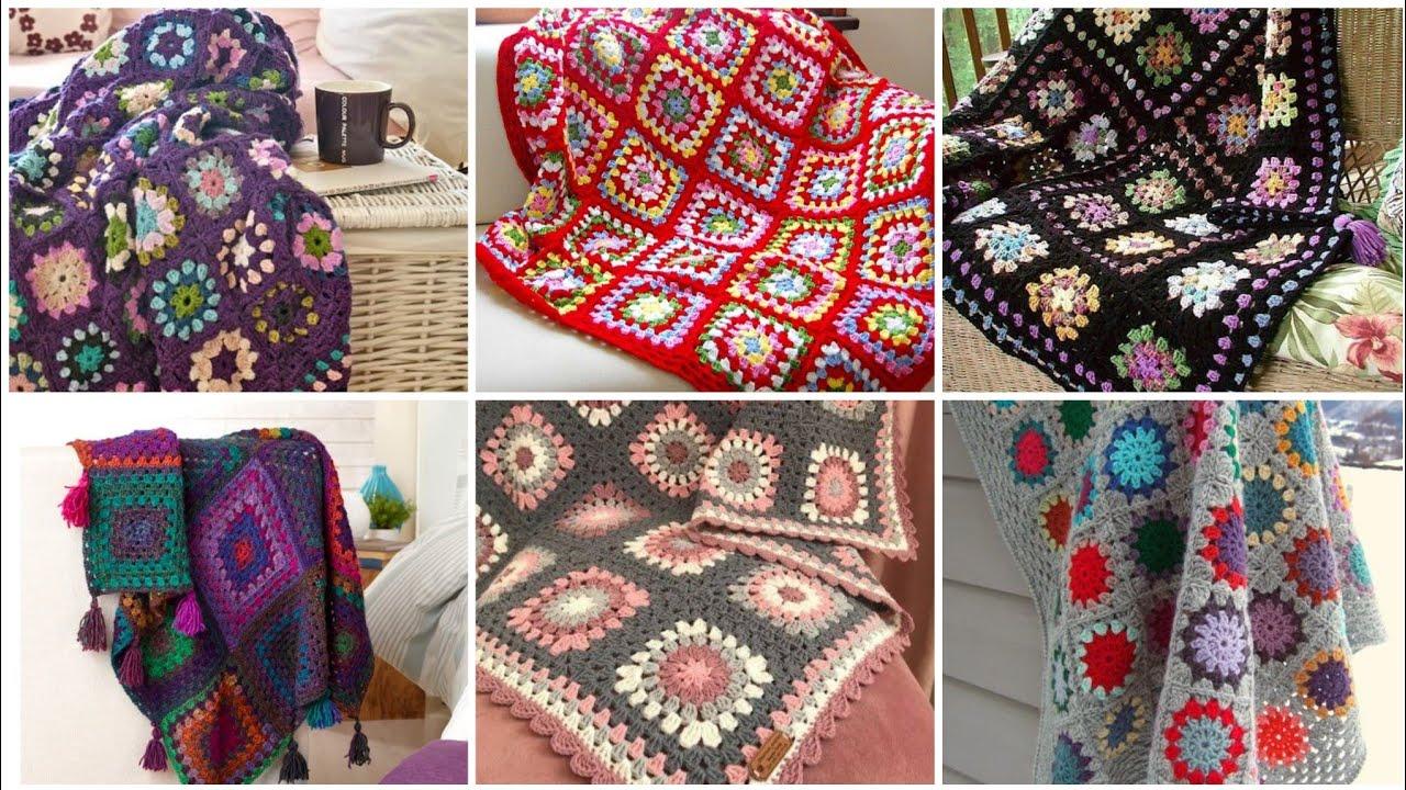 Stylish And Attractive Crochet Granny Square Pattern Blanket Designs