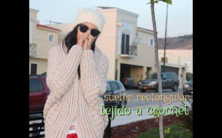 Suéter Angora -a crochet-