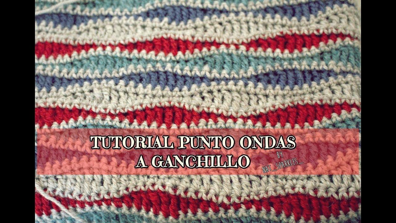 TUTORIAL PUNTO ONDAS GANCHILLO (para manta bebé)