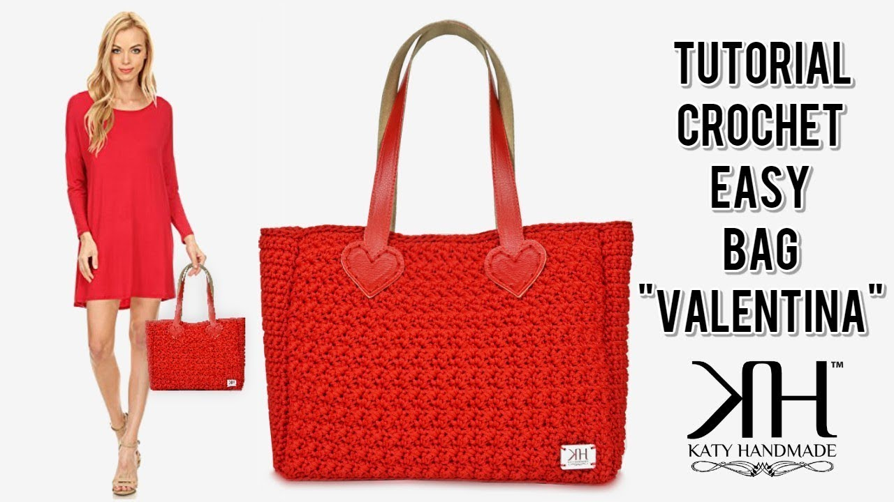"TUTORIAL UNCINETTO ""Valentina"" Shopper Bag - Punto carice crochet ● Katy Handmade"