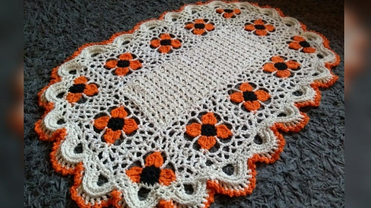 Tapete Square Floral Fácil em Crochê/ Tutorial Passo a Passo