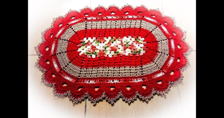 Tapete em Crochê (Bem me Quer) - com SQUARE - Fácil e Prático - Crochet Rug