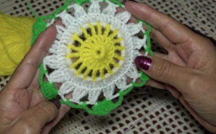Tejido a Crochet: Granny en margaritas hexagonales - Fácil de hacer.