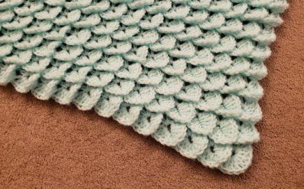 The Crocodile Stitch Shawl - Crochet Tutorial!