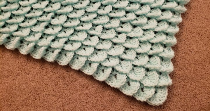 The Crocodile Stitch Shawl - Crochet Tutorial!