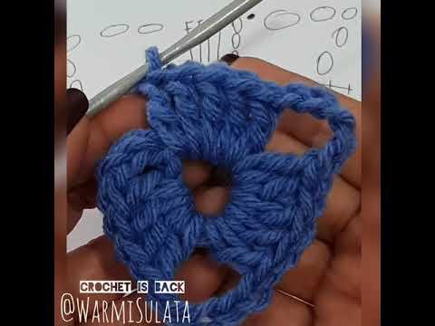 Triangulo tejido, ganchillo, crochet para principiantes, aprender a leer y tejer patrones