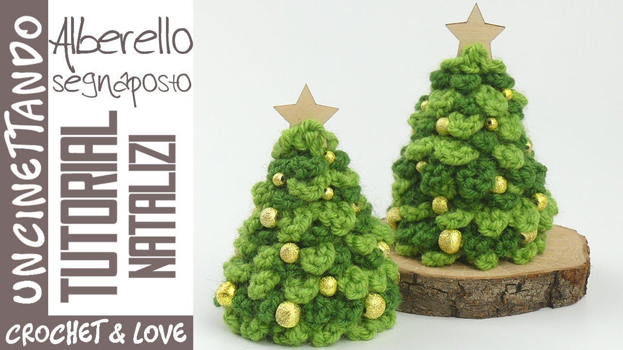 Tutorial Albero di Natale ad uncinetto - Facile e Veloce (sub. eng. y esp.)