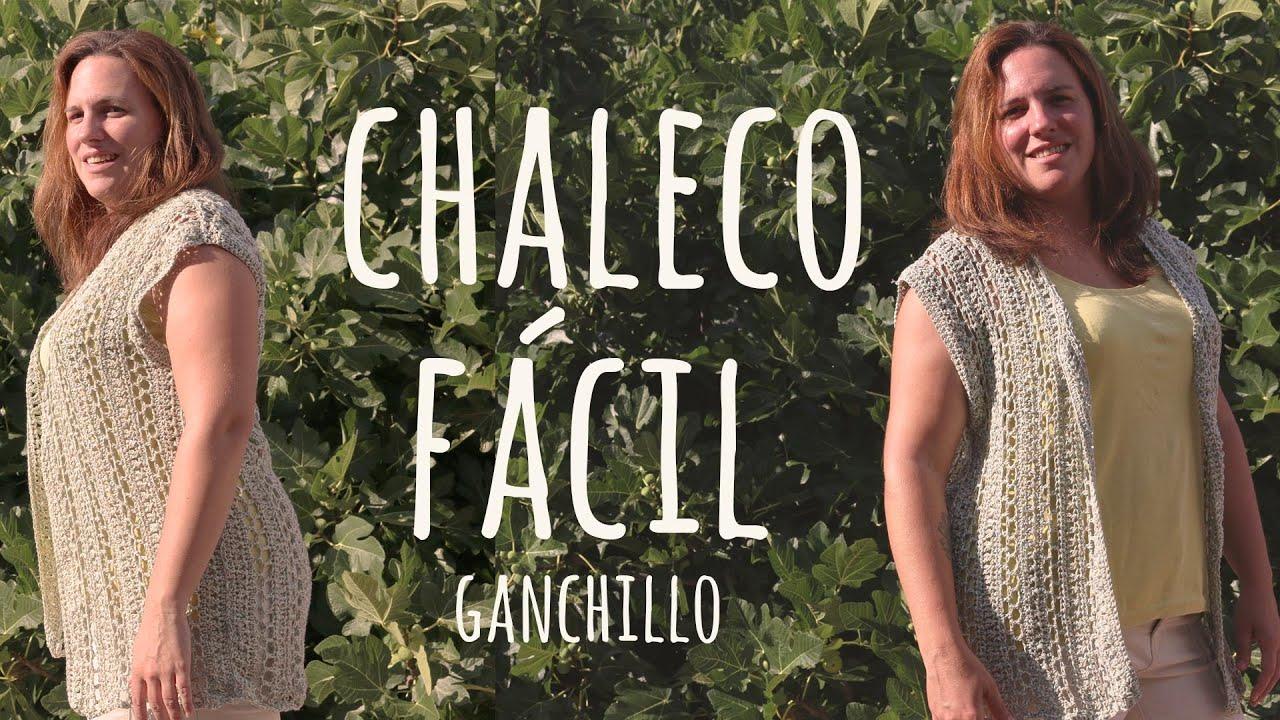 Tutorial Chaleco Calado Fácil TODAS LAS TALLAS | Ganchillo - Crochet | Lanas y Ovillos