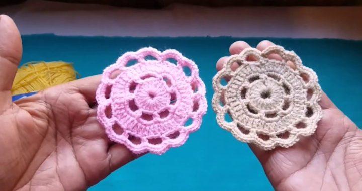 Very Easy and #Beautiful Crochet Doily #Pattern Tutorial/Crochet #Doily Making #Idea