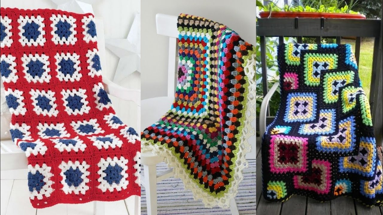 Very fine hanndmade crochet granny square pattern blankets & bedsheet#crochet afghan pattern blanket