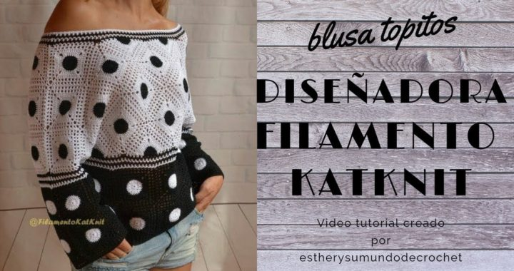 crochet blusa facil topitos