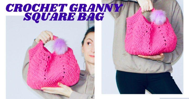 crochet granny square bag tutorial.crochet granny square bag youtube.diy crochet granny square bag