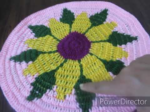crochet thaiposh part 1 Crochet Table Top/Centerpiece/Crochet Table Mat /Crosia Rumal /.