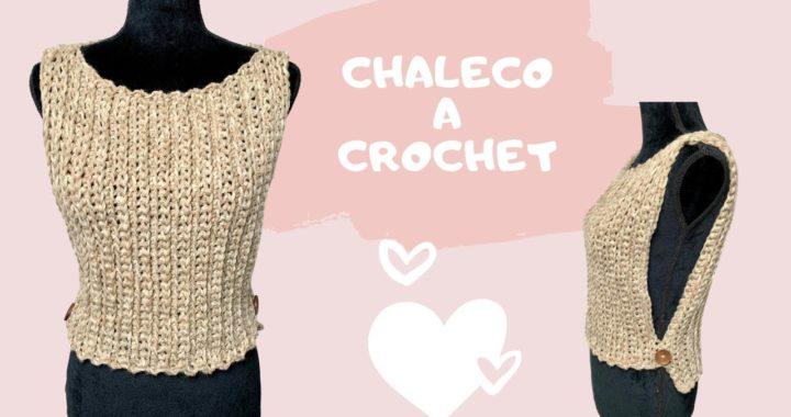 #crochetparaprincipiantes CHALECO A CROCHET SUPER FACIL.