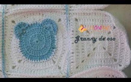 granny de oso- Crochelines_ fácil de tejer