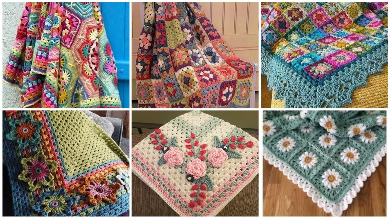 most beautiful and attractive cut out lace pattern granny square pattern blanket designs ideas