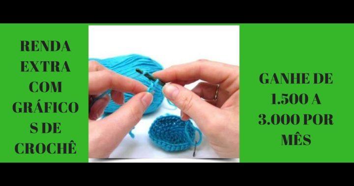 renda extra com gráficos de crochê- gráficos de crochê passo a passo- gráficos de crochê como fazer?