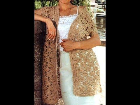 बनियान के लिए क्रोकेट पैटर्न - Crochet pattern for vest - 背心的鉤針編織圖案