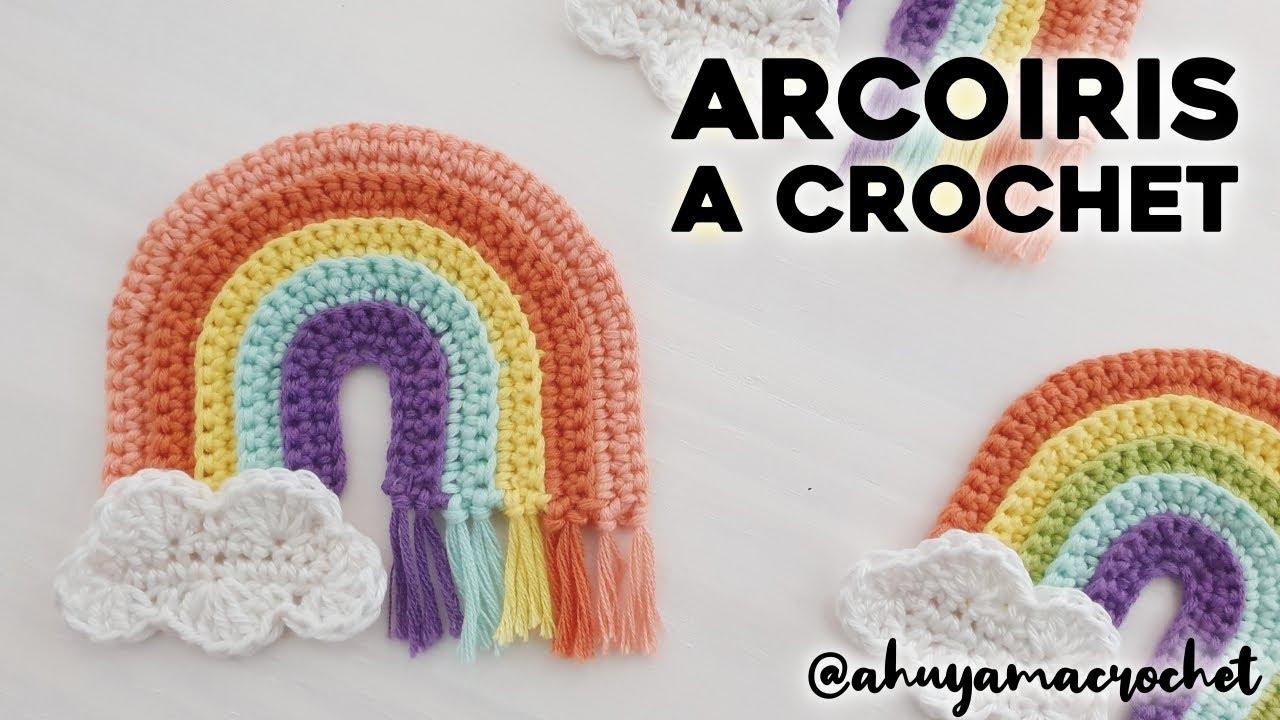 ARCOIRIS A CROCHET paso a paso: cómo tejer arcoíris a crochet - tutorial y patrón   Ahuyama Crochet