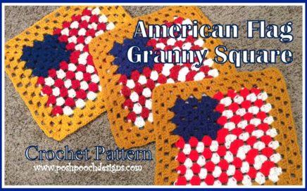 American Flag Granny Square Crochet Pattern