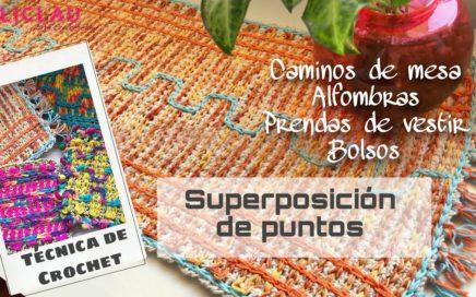 Aprende a tejer ésta TÉCNICA DE CROCHET | SUPERPOSICIÓN DE PUNTOS | Crochet Fácil | EliClau