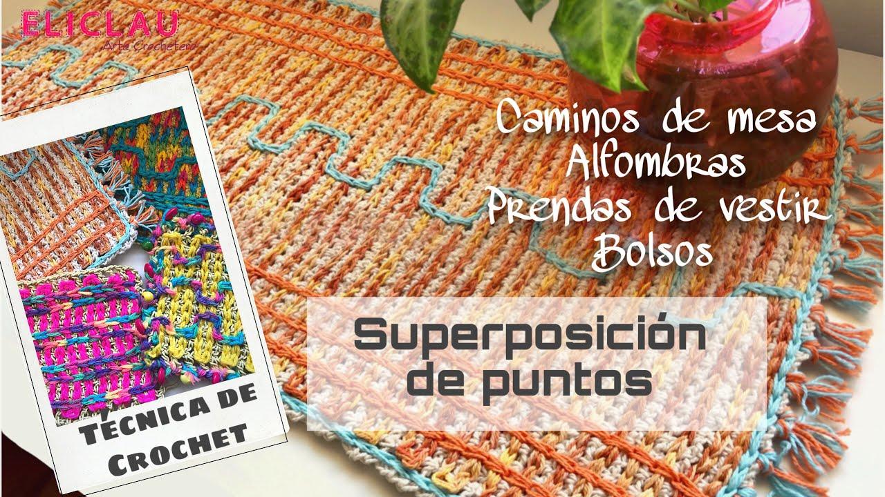 Aprende a tejer ésta TÉCNICA DE CROCHET   SUPERPOSICIÓN DE PUNTOS   Crochet Fácil   EliClau