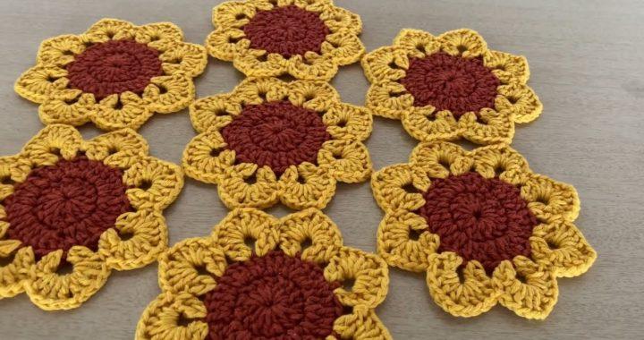 CROCHÊ CENTRO DE MESA GIRASSOL | CROCHÊ FÁCIL PASSO A PASSO | crochet