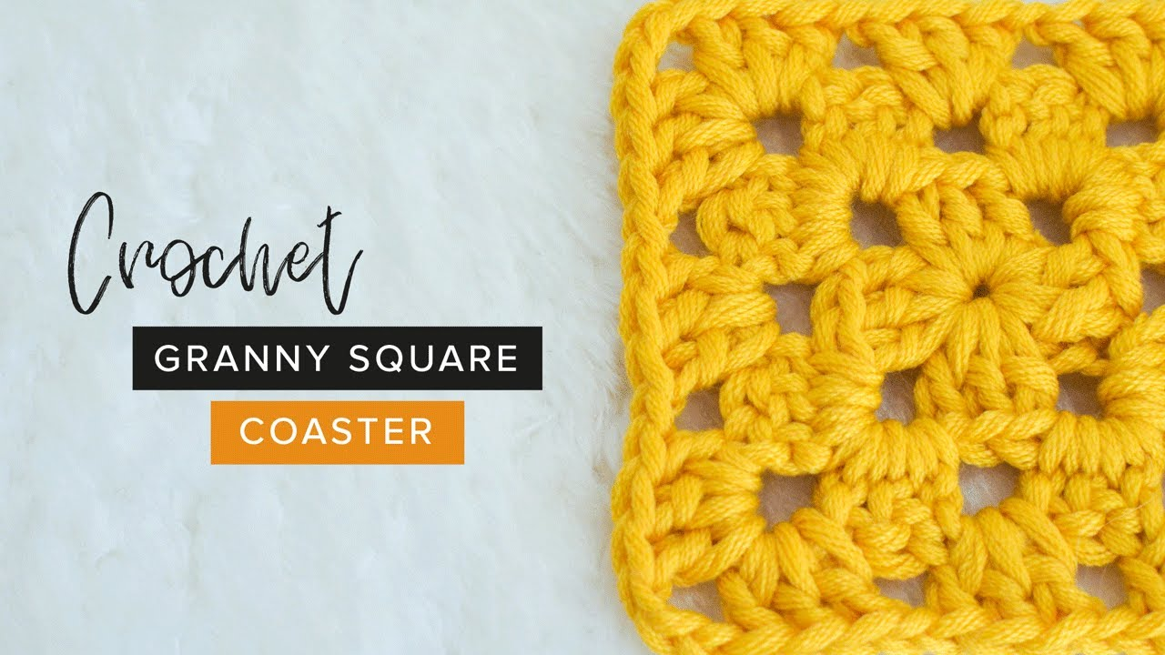 CROCHET: How to Crochet a Granny Square Coaster    Easy Tutorial by Crochet and Tea