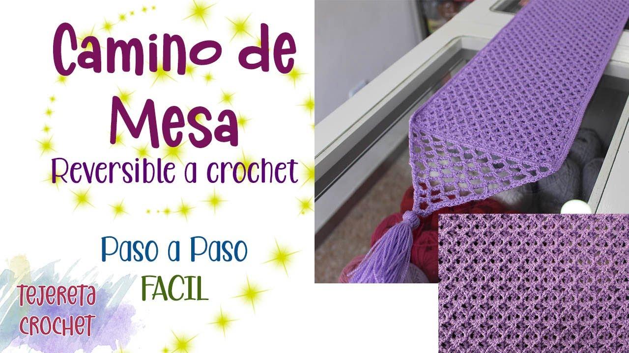 Camino de mesa a Crochet paso a paso I Tejereta