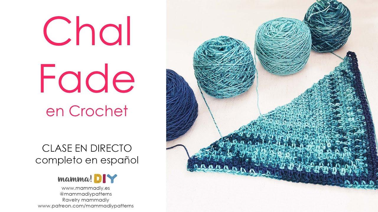 Chal Fade en Degradé en Crochet CLASE EN DIRECTO #YOMEQUEDOENCASA por Cecilia Losada