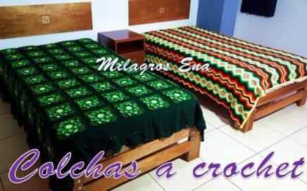 Colchas o cubrecamas tejidas a crochet - tejidos hechos a mano