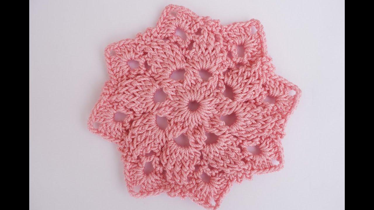 Como hacer una colcha o cobija  con una estrella de 8 puntas a crochet. Con gráficos y unión