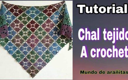 Como tejer 😍CHAL😍 triangular a CROCHET para primavera