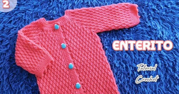 Como tejer Enterito, Mameluco, Body a crochet ganchillo Bebe. Tejido a ganchillo paso a paso (2/2)