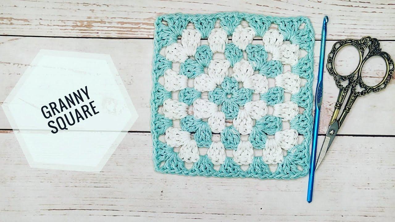 Como tejer 🧶Granny Square básico a crochet paso a paso