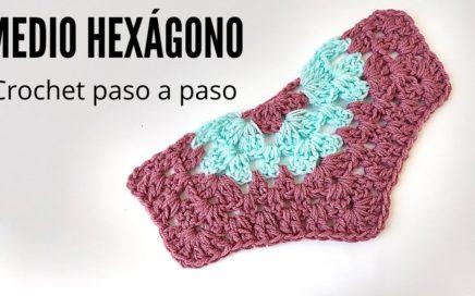 Cómo tejer medio hexágono a crochet paso a paso