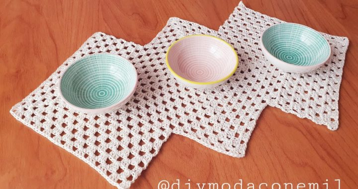 Como tejer tapete camino de mesa granny a crochet paso a paso