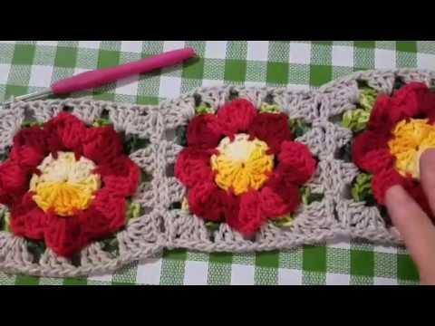 Como unir os squares sem cortar o fio#crochê #crochet #handmade